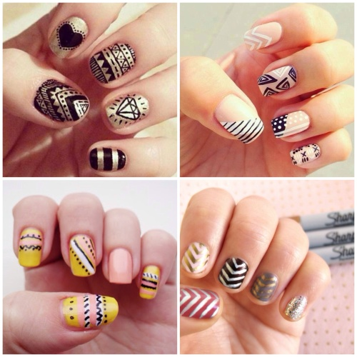 DIY Sharpie manicure ideas | Glory Boon