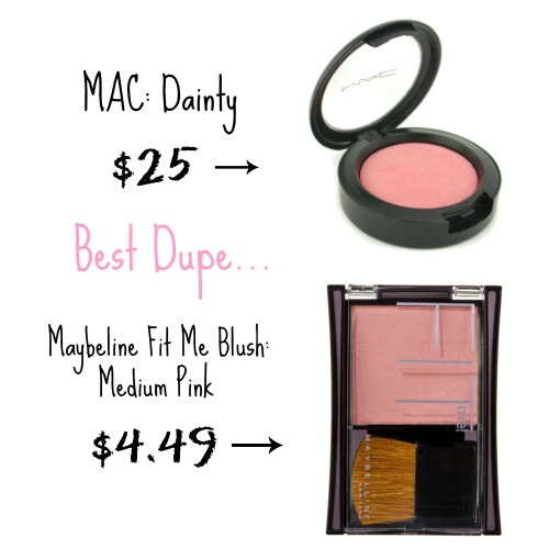 mac blush dupe