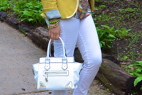 white purse