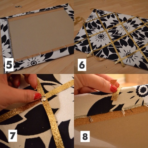 how to make a ribbon pin board
