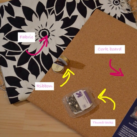 ribbon pin board diy